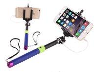 Wholesale Android phones Camera Monopod Extendable self timer photo mini colorful Tripod selfie stick LL