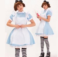 alice clothing - Maid Clothes Alice s Adventures in Wonderland Alice cosplay costume Tailor Made Free DHL