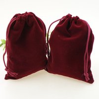 beam wine - velvet drawstring bag Gift bag Flocked phine bag jewelry pouch beam port wine red velvet drawstring bag