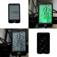 Wholesale Water resistant Multifunction Wired Cycling Bike Bicycle Computer Odometer Speedometer Touch Button LCD Backlight Backlit