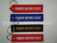 best luggage tags - Best price Remove Before Flight Embroidered Canvas Specil Luggage Tag Label Key chain