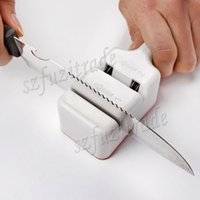 best knife sharpening steel - Promotion Best Two Stages Kitchen Knife Steel Sharpener Household Knives Sharpening Stone Kitchen Tools AIA00054