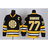 Cheap Bruins #77 Hockey Jerseys High Quality Ray Bourque Black Ice Hockey Apparel Cheap Team Sport Jerseys Outdoor Hockey Apparel Kits for Sale