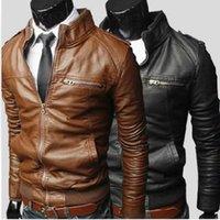 Wholesale Fall New Men s PU jackets for men jacket casual jacket Leather Jackets For Men Color Plus Size M XXXL