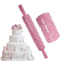 Wholesale Rolling Pin Fondant Cake Sugarcraft Embossed Decorating Mold Gum Paste Tools