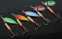Wholesale New LKLP Fishing Lures Spinnerbaits Metal lure Bait paillette spoon Fishing Tackle Mix Color