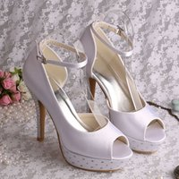 Wholesale Womens Platform Shoes Crystal Wedding Bridesmaid Dress Studded Heels