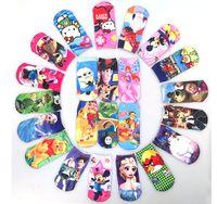 Wholesale Cartoon socks Frozen Socks d pattern Anna Elsa Children Girls cartoon girl s princess sneaker socks kids sockings