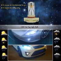 Wholesale 2 X SMD LM H16 LED Car Fog Light Parking Brake Led Headlight Lamp Bulb Replacement Socket White