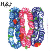 wedding decorations artificial christmas wreath - Silk Artificial Flowers Hawaii Wreath Silk Flower Lei Party Supplies Garland Cheerleading Products Hawaii Necklace Manufacturer HH0003