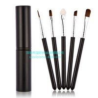 Wholesale makeup brush tools set kit set professional beauty cosmetic black Eyebrow LIP brushes high quality