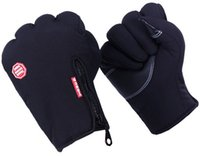 Wholesale 1 Pair Women Men s Winter Outdoor Windproof Thermal Sports Riding Cycling Motorcycle Bike Zipper Gloves Size M L XL