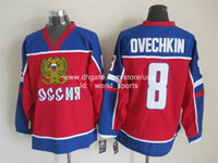 olympic hockey jerseys - Cheap Washington Alex Ovechkin Team Russia Red Blue CCM Olympics Throwback Capitals Nhl Vintage Ice Hockey Stitched Heritage Jerseys