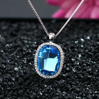 beaded chain mirrors - Factory Mirror Flower Love Korean manufacturers crystal pendant necklace short section of high end European and Americ