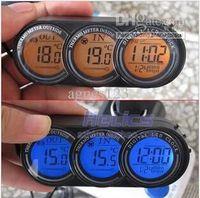 Wholesale Car clock car outside temperature car clock car thermometer car inside and outside thermometer car top sale