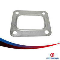 steel flange - PQY RACING T04E T66 T70 GT35 GT40 T4 Turbo Turbine Inlet Gasket T4 Flange Gasket Bolt Stainless Steel PQY4807