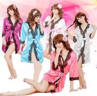 Wholesale Sexy lingerie Pyjamas for Sexy ladies Sexy Temptation Nightdress dress Bathrobes Pajamas Lingerie G string