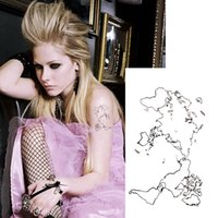 beauty maps - sheets Temporary Tattoo Sticker Body Art World Map Design for Women Party Beauty Christmas Gift