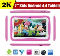 Wholesale Christmas gift for kids inch Kids Education Tablets RK3126 Quad core Android Bluetooth MB GB Kids Games Apps mini tablet pc