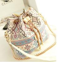 Wholesale Hot new handbag European and American fashion trade large bucket bag leather handbag shoulder diagonal package
