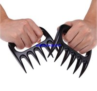 Wholesale 2pcs set Grizzly Bear Paws Claws Meat Handler Fork Tongs Pork Shredder Puller BBQ Barbecue Kitchen Tools