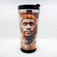 basketball mugs - U S A basketball fans LeBron Raymone James Stainless Steel Thermal Tumbler Travel Mug Coffee Mug Cup tea cup NEW