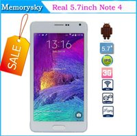 Wholesale 2014 New inch Real Note SM N9100 MTK6582 Quad Core Smart Phone GB RAM GB ROM Android WCDMA G Eye Control Cell Phone