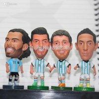 argentina soccer player messi - Mini Soccer Dolls Cup World Argentina Football Team Players Messi Doll Di Maria Kun Aguero Tevez Cartoon Figures