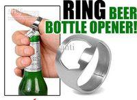 beer bottle - NEW Silver Stainless Steel Metal Finger Thumb RING Beer Bottle Opener Bar pub Tool