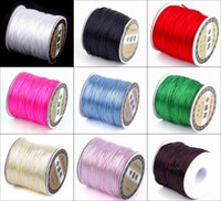 Cheap 1Roll 70M Nylon Cord Satin Chinese Knotting String For Jewelry Shambhala Macrame Beading Wire Ropes NF3*1