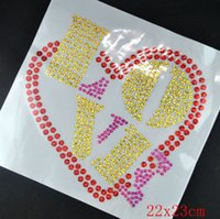 Wholesale Big size hotfix sequin motif heat transfer iron on sequins rhinestone iron on transfers