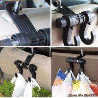 Wholesale Newly New Car Seat hooks Double Hooks Coat Purse Shopping Bag Organizer Holder Plastic Hanger PKV