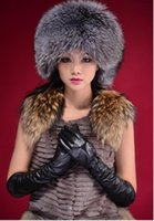 ru - RU winter Fox fur hats for Women genuine Fox fur hats cap ladies real winter faux Mink fur hat women Winter Beanie
