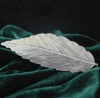 ancient forest - Fashion silver leaves hairpin return the ancient forest Female style
