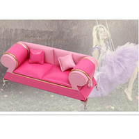 accessories pu furniture - Newest PU Material Doll Chair Sofa Dollhouse Furniture Color Fashion Doll Furniture Jewelry Box for Girls