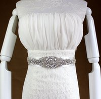 Wholesale Dazzing Cheap Sexy Wedding Dresses Sash and Belts Bridal Sashes Rhinestone Crystal Beads Pearls Vintage For Party Evening Accessories