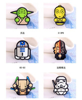 badge safety pins - Star Wars Pins Brooches Collar Breastpin Prevalent Jewelry Darth Vader Stormtroopers Yoda kids Cartoon badge safety pin R2 D2 school supplie