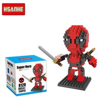 avengers shipping - Zorn HSANHE Diamond Block Marvel s The Avengers superhero Deadpool building blocks assembled educational toys in