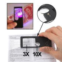 Wholesale Magnifiers LED X X Magnifier NO with Money detector Mini Pen Multifunctional Card Design