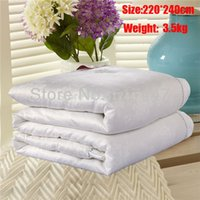 Wholesale For King queen kg cm or cm white color quilted Winter Quilt comforter bedspreads silk duvet king size cotton