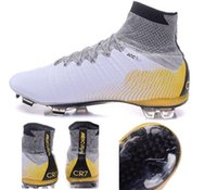 athletic line - 2015 new men Mercurial Superfly CR7 Quinhentos FG Men s Soccer Shoes and Cleats High carbon fly line Sneakers Athletic Cheap Training Shoes