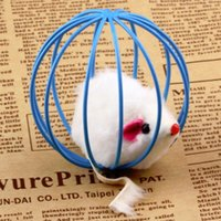 Wholesale 1pcs Hot Worldwide Fun Toys False Mouse in Rat Cage Ball For Pet Cat Kitten Play Playing