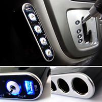 Wholesale 12V USB LED Car Cigarette Lighter Way Port Socket Splitter Charger Adapter DC