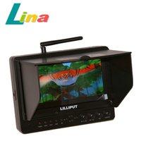 Lilliput 7 '' LCD FPV Moniteur 665FPV 5.8GHz Récepteur AV sans fil Photographie aérienne HD 1080P HDMI pour caméra vidéo Canon Nikon