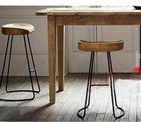 antique furniture - Top The village of retro furniture Vintage metal bar chair anti rust treatment Bar furniture sets wood bar stool