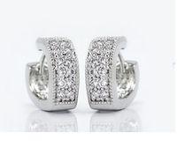 Wholesale Brazilian Virgin Hair Sex Toy Phone Cases Earings Heart Women Silver Crystal Earrings Stud Earring Simulated Diamond Jewelry Hristmas Js1689