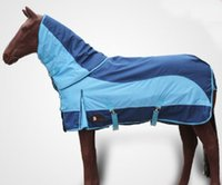 horse harness - Latest Outdoor Horse Racing Cloth Autumn Water Proof Warm Horse Rugs Blue Detachable Horse Harness
