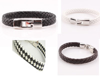Wholesale Unisex Handmade Braided Woven PU Leather Bracelet Bangle Jewelry For Women Men ZB67