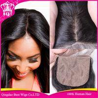 Cheap Brazilian Body Wave Silk Base Closure,Free 3 Part Cheap Silk Base Closure Brazilian Virgin Hair,4x4 Brazilian Silk Top Closures