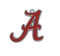 alabama university sports - University of Alabama red enamel metal charms